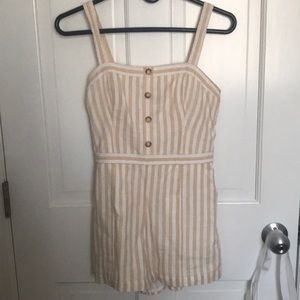 Abercrombie yellow & white striped romper